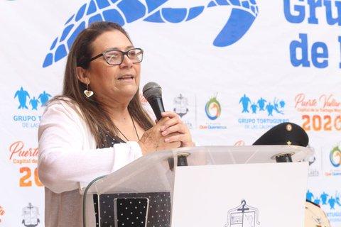 Raquel Briseño Dueñas en la 22va. Reunión Grupo Tortuguero de las Californias.
